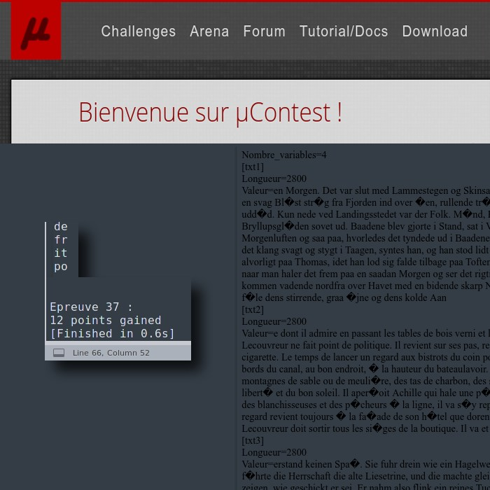 Microcontest : alors tu as abandonné ?